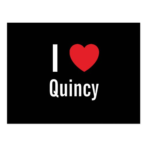 I love Quincy Post Card