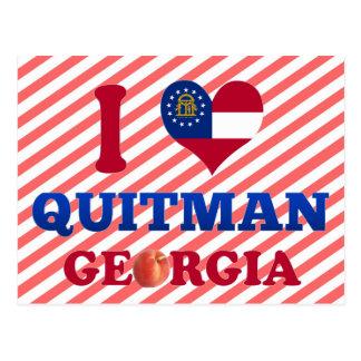 I Love Quitman, Georgia Postcard