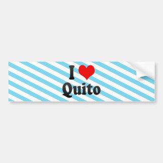 I Love Quito, Ecuador Car Bumper Sticker