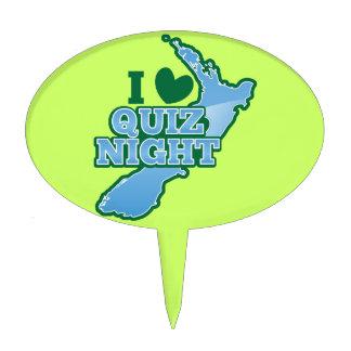 I love Quiz night! New Zealand map Cake Topper