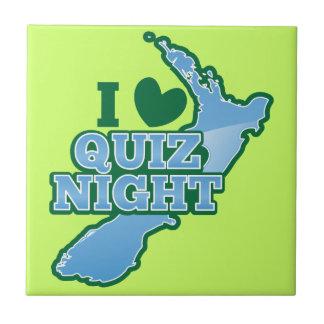 I love Quiz night! New Zealand map Ceramic Tile