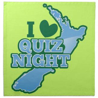 I love Quiz night! New Zealand map Cloth Napkin