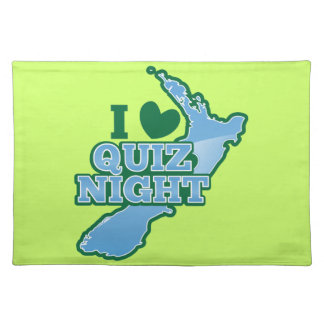 I love Quiz night! New Zealand map Cloth Placemat