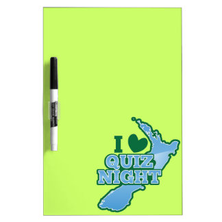 I love Quiz night! New Zealand map Dry Erase Board