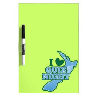 I love Quiz night! New Zealand map Dry Erase Board