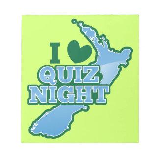 I love Quiz night! New Zealand map Notepad