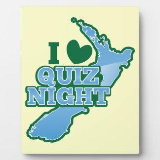 I love Quiz night! New Zealand map Plaque