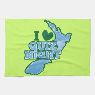 I love Quiz night! New Zealand map Towel