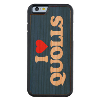 I LOVE QUOLLS CARVED CHERRY iPhone 6 BUMPER CASE