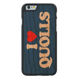 I LOVE QUOLLS CARVED CHERRY iPhone 6 SLIM CASE