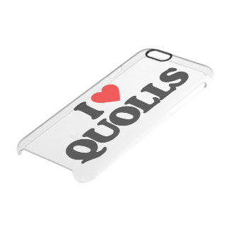 I LOVE QUOLLS CLEAR iPhone 6/6S CASE