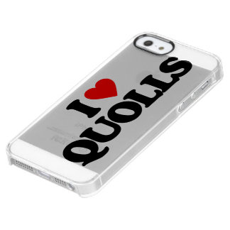 I LOVE QUOLLS CLEAR iPhone SE/5/5s CASE
