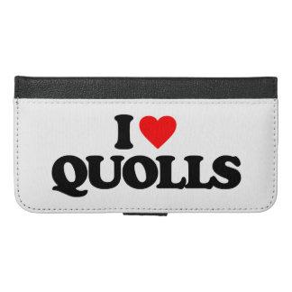 I LOVE QUOLLS iPhone 6/6S PLUS WALLET CASE