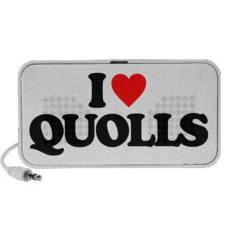 I LOVE QUOLLS TRAVELLING SPEAKERS