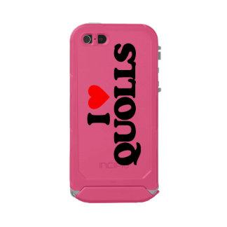 I LOVE QUOLLS WATERPROOF iPhone SE/5/5s CASE