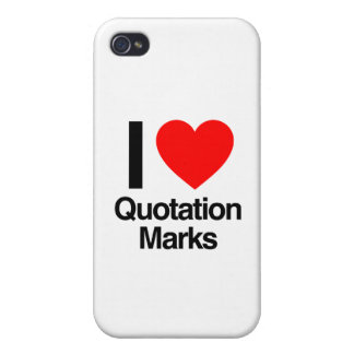 i love quotation marks iPhone 4 covers