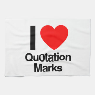 i love quotation marks hand towels