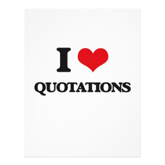"I Love Quotations 8.5"" X 11"" Flyer"