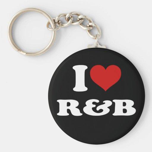 I Love R&B Keychain