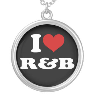 I Love R&B Personalized Necklace