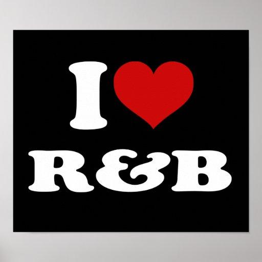 I Love R&B Poster