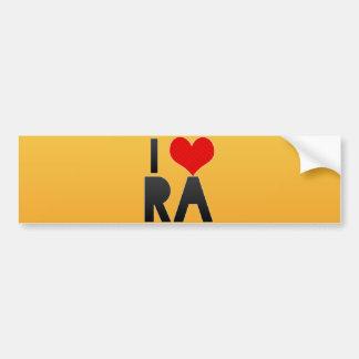 I Love RA Bumper Sticker