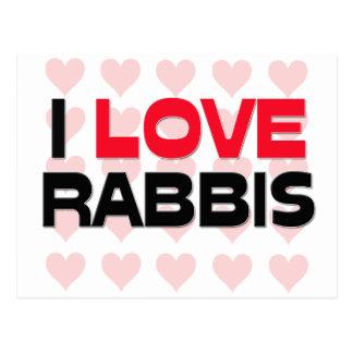 I LOVE RABBIS POSTCARD