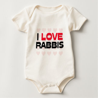 I LOVE RABBIS ROMPERS
