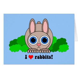 I love rabbits greeting card