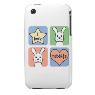 I Love Rabbits Case-Mate iPhone 3 Case