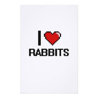 I love Rabbits Digital Design Stationery