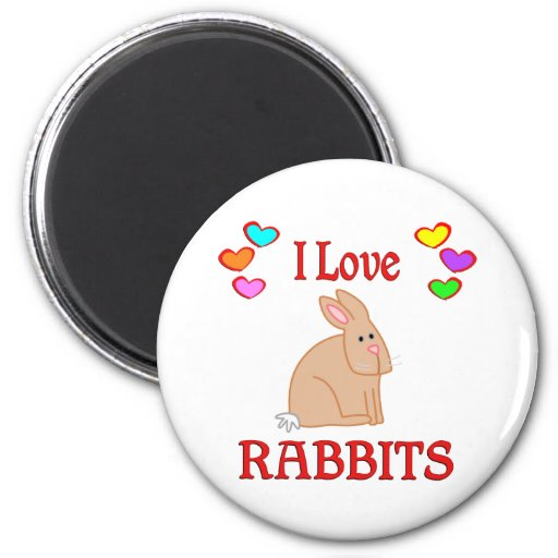 I Love Rabbits Fridge Magnets