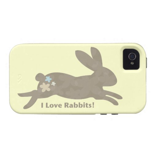 I Love Rabbits iPhone 4 Vibe Case iPhone 4 Covers
