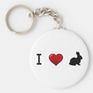 """""""I Love Rabbits"""" Keychain"""