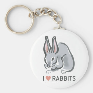 I Love Rabbits Keychain