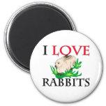 I Love Rabbits Magnet