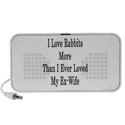 I Love Rabbits More Than I Ever Loved My Ex Wife Speaker System