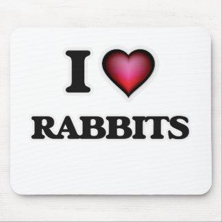 I Love Rabbits Mouse Pad