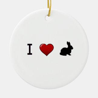 """I Love Rabbits"" Ornament"