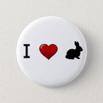 """""""I Love Rabbits"""" Pin"""