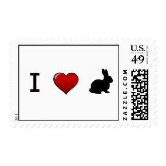 """I Love Rabbits"" Stamps"