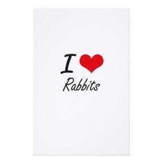 I Love Rabbits Stationery
