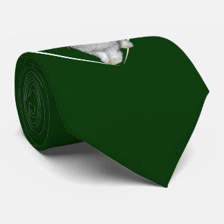 I Love Rabbits Tie (Dark Green)