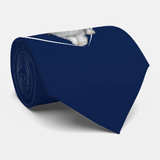 I Love Rabbits Tie (Navy)