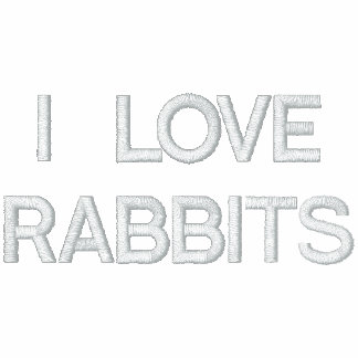 I Love Rabbits Women's Embroidered Hoodie