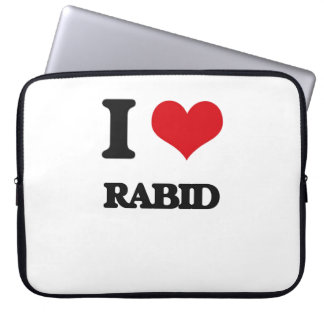 I Love Rabid Computer Sleeve