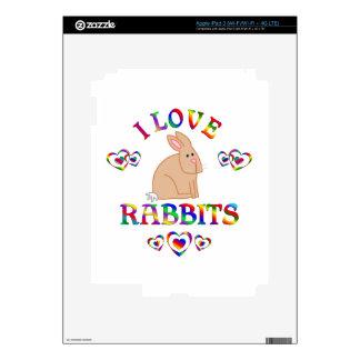 I Love Rabits iPad 3 Decal