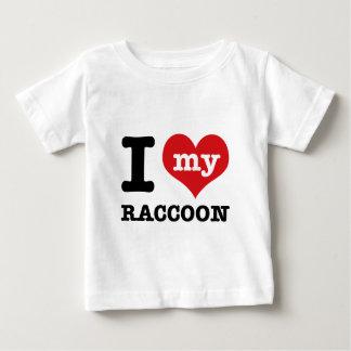 I Love raccoon Baby T-Shirt
