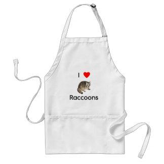 I love raccoons Apron