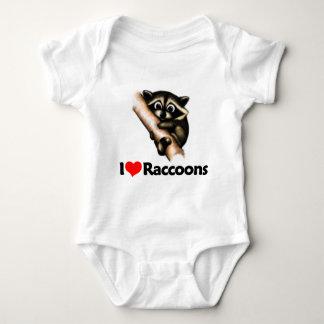 I Love Raccoons Baby Bodysuit